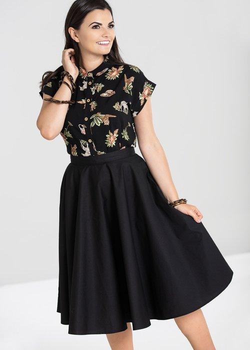 Hell Bunny Black Paula 50's Skirt