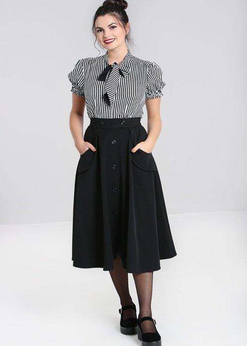 Hell Bunny Carlie Black Skirt