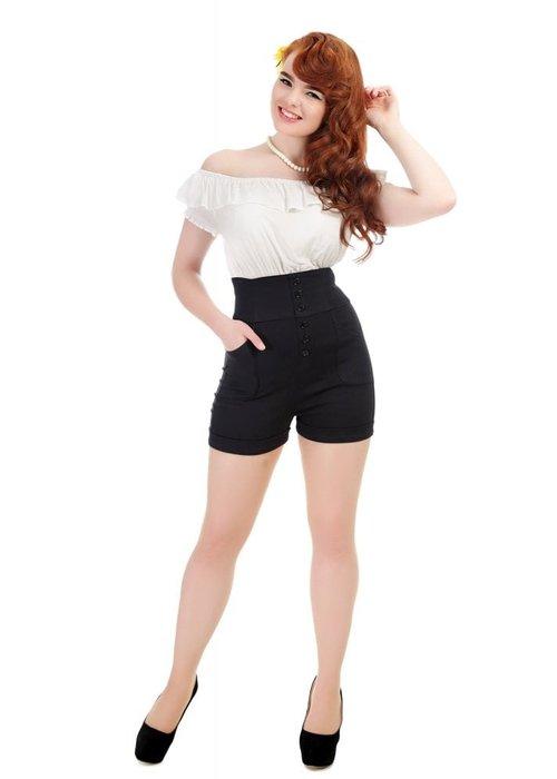 Collectif Nomi Plain Black Shorts