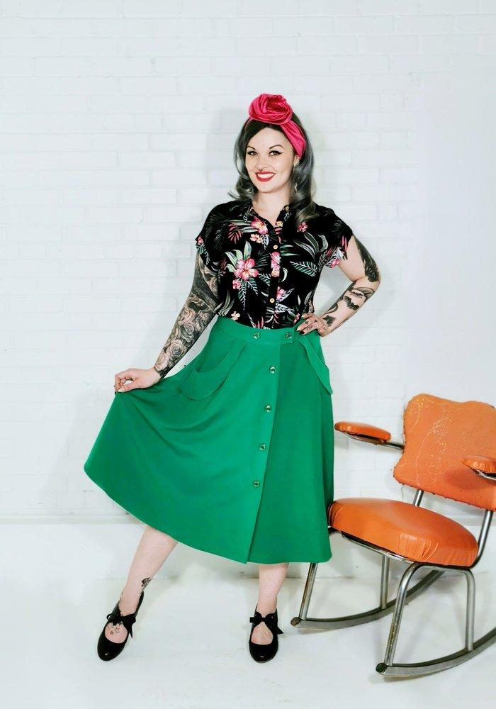 Carlie Green Skirt