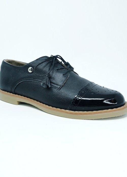 Anna Maria Dessin Black Oxford Shoes