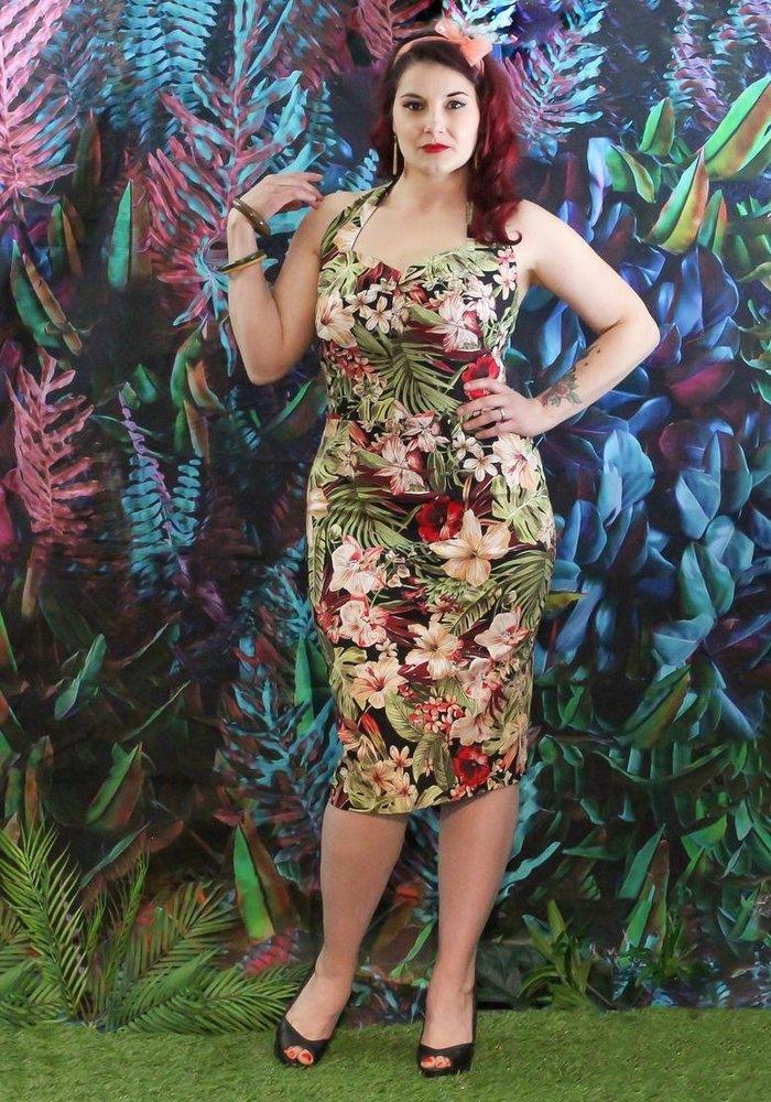 Delphine Tropical Dress Multi-Colors