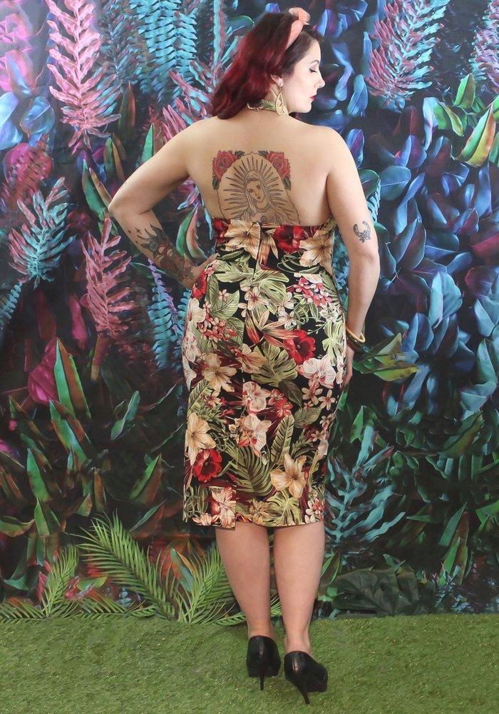 Robe Delphine Tropical Multi-Couleur