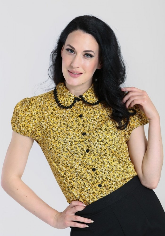 Blouse Carrie Moutarde