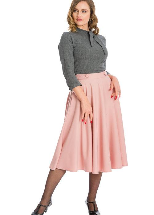 Banned Pink Di Di Swing Skirt