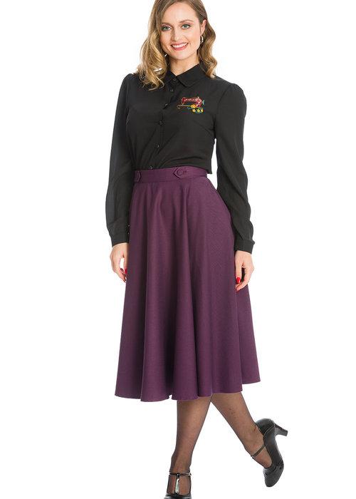 Banned Aubergine Di Di Swing Skirt