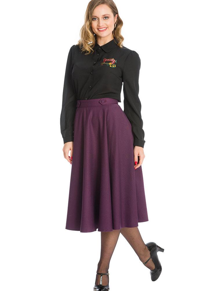 Aubergine Di Di Swing Skirt