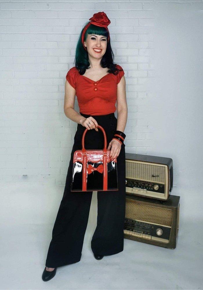 Large Red Velvet Turban