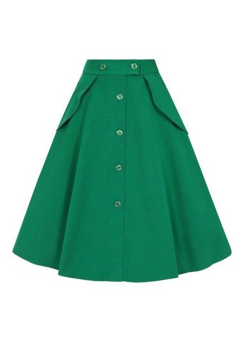 Hell Bunny Carlie Green Skirt