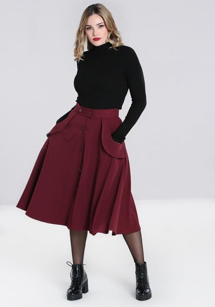 Carlie Skirt Burgundy