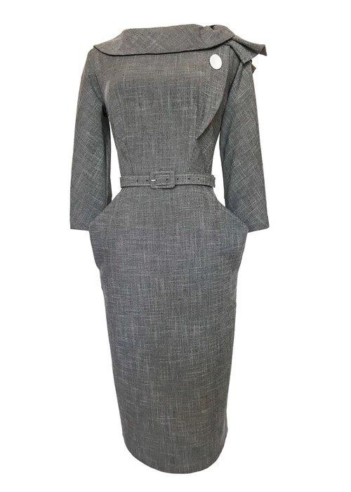 Grace And Glam Grey Evita Dress