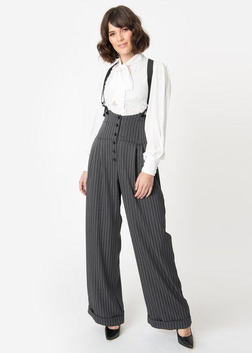 Unique Vintage Pantalon Thelma Charbon