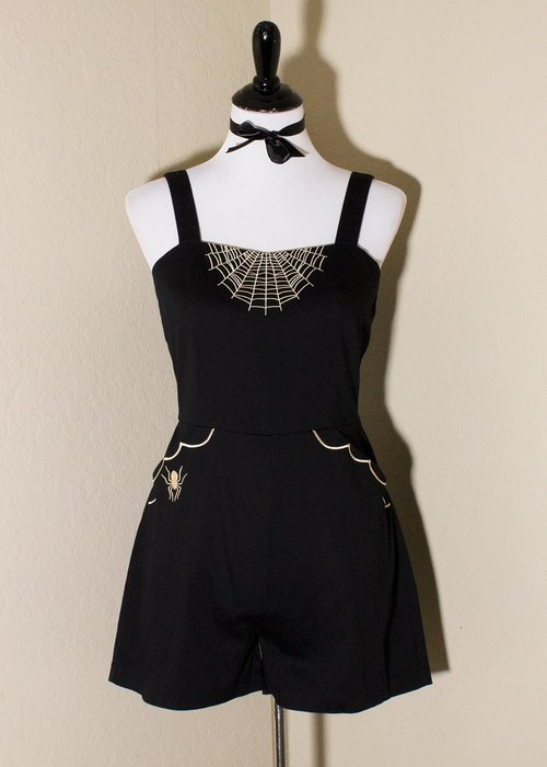 Oblong Box Glamour Ghoul Romper