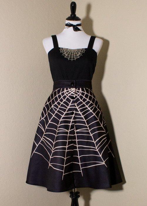 Oblong Box Black Glamour Ghoul Skirt