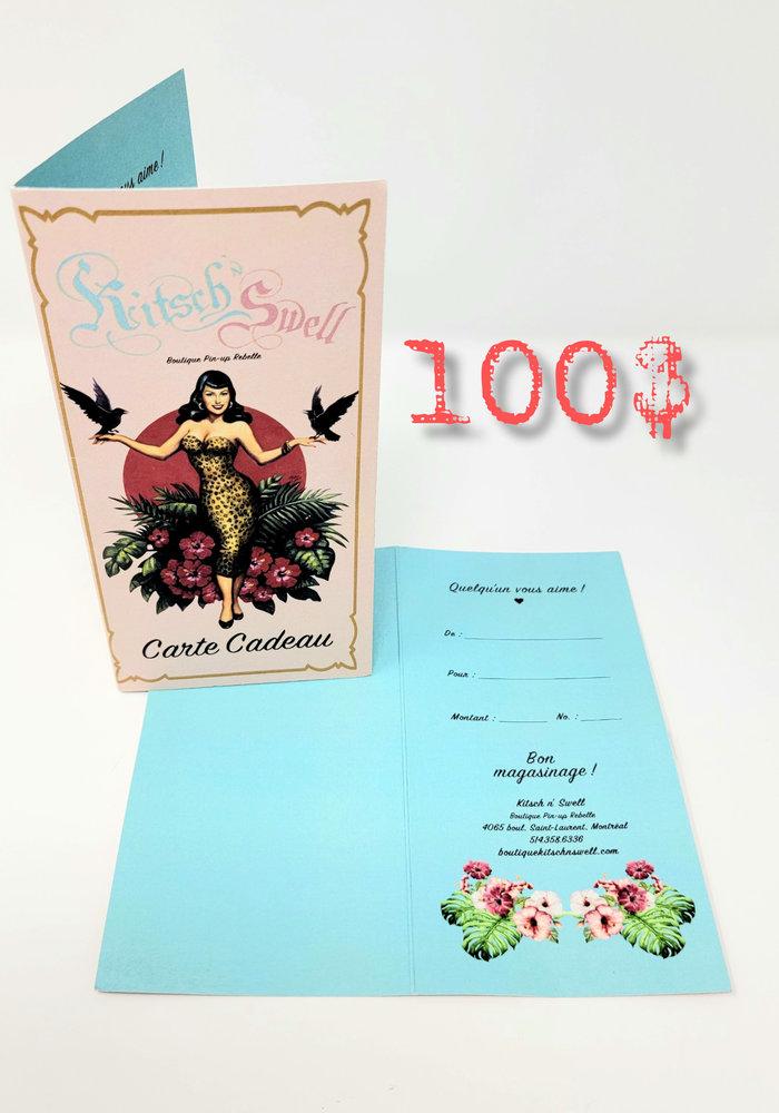 Certificat Cadeau 100$