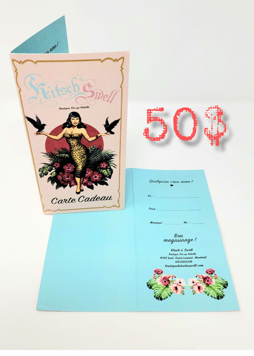 Kitsch'N Swell Gift Certificat 50$