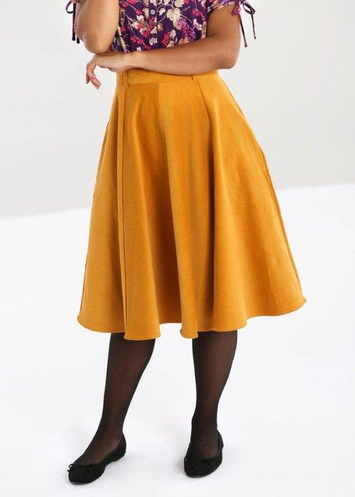 Hell Bunny Mustard Jefferson Skirt