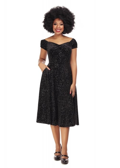 Collectif Robe Dolores Glitter Drop