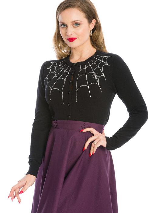 Banned Cardigan Under her Web Noir Et Blanc