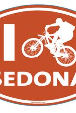 I Bike Sedona Sticker