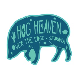 Over the Edge Sedona Hog Heaven Sticker