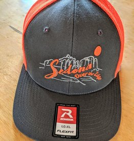 OTE - Line Art Hat - Bright Orange Charcoal - L/XL