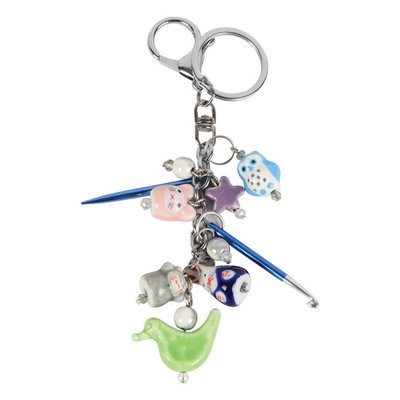 KP Knitting Charms Friends Key Chain