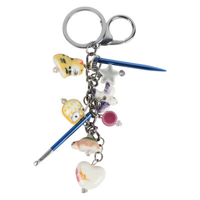 KP Knitting Charms Passion Key Chain