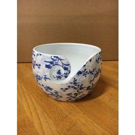 Bryson Yarn Bowl Blue Leaves Alum