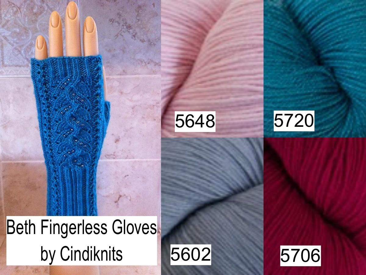 Cindiknits Beth Fingerless Gloves Kit