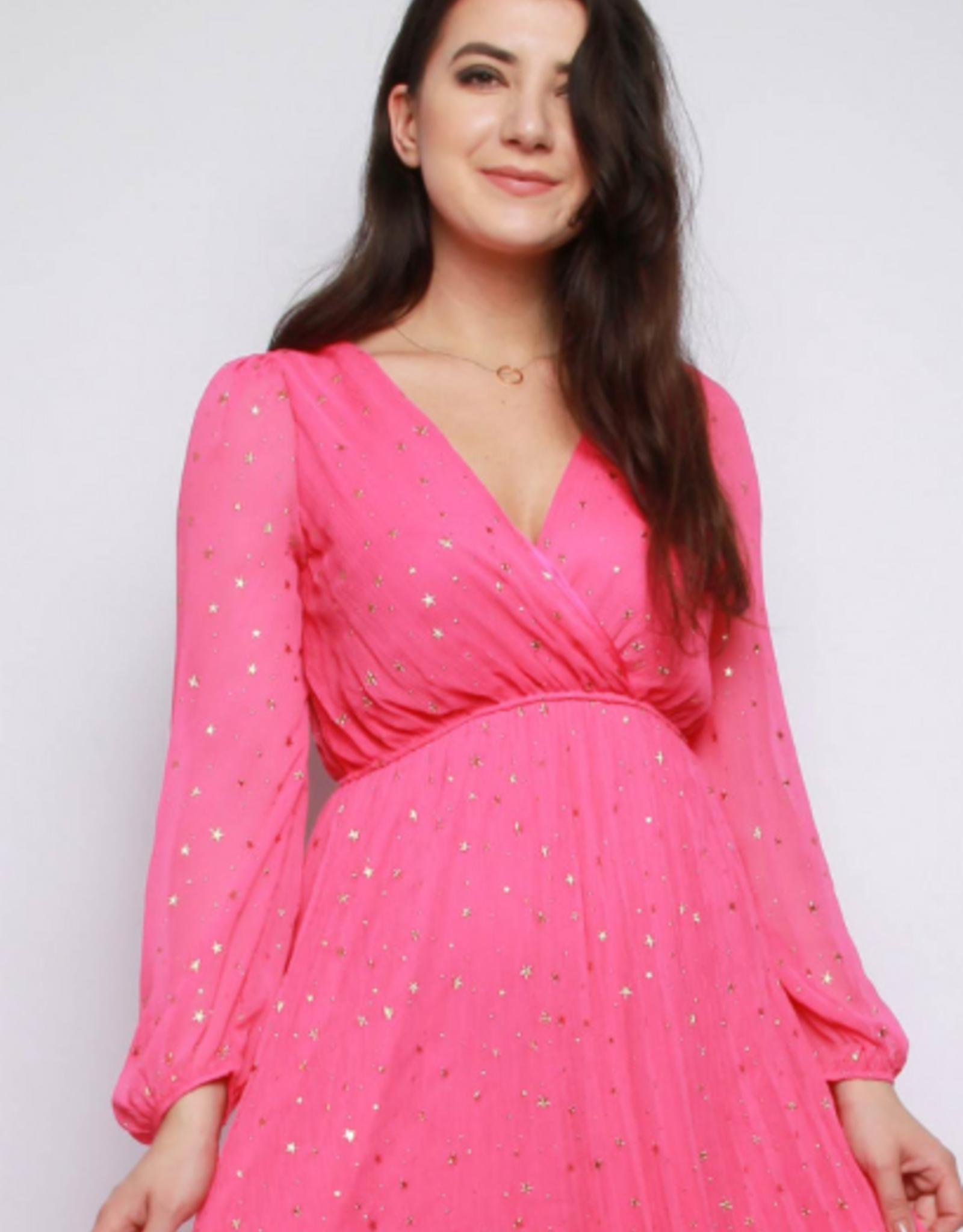 Missi Clothing Star Print Wrap Maxi Dress