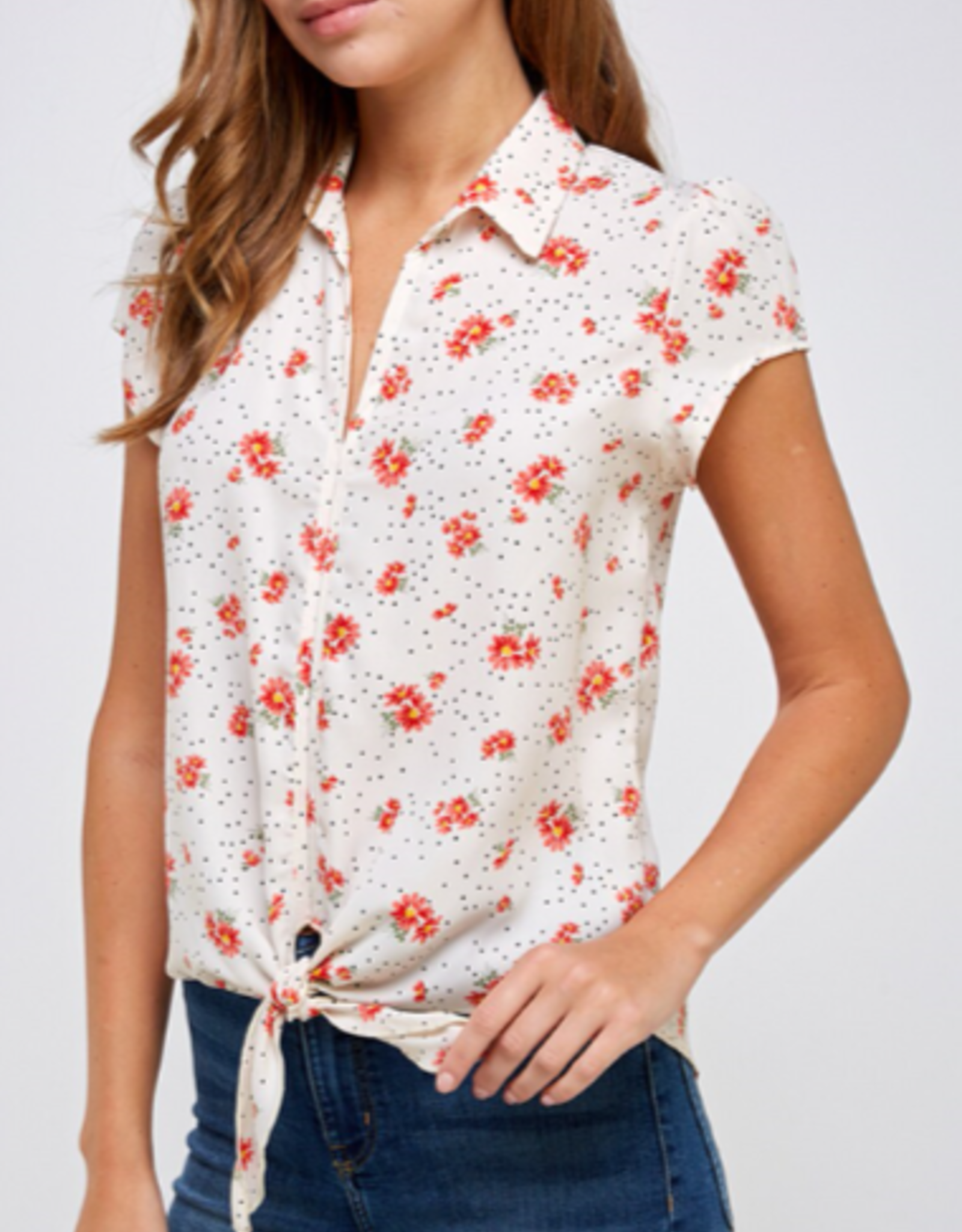 Westmoon floral blouse with tie in front