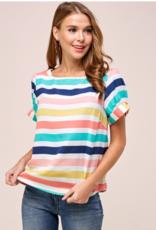 Westmoon puff sleeve striped top