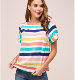 Westmoon puff sleeve striped top