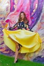 Westmoon pleated yellow midi skirt