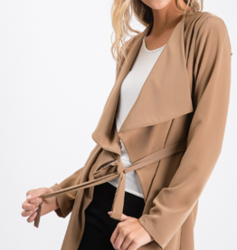 Must Have front tie waist long jacket