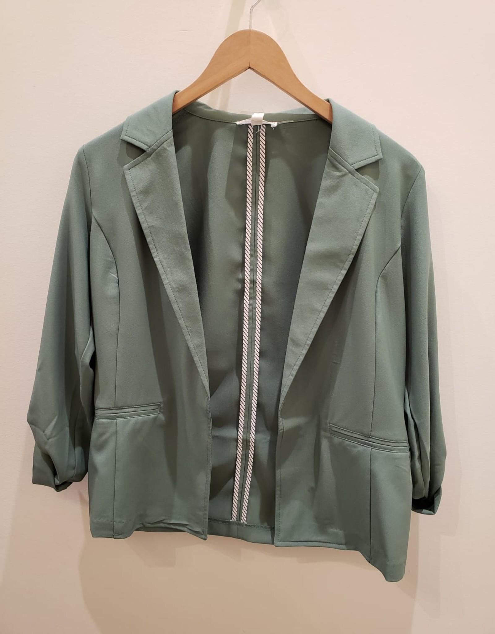 Must Have button cuff blazer jacket