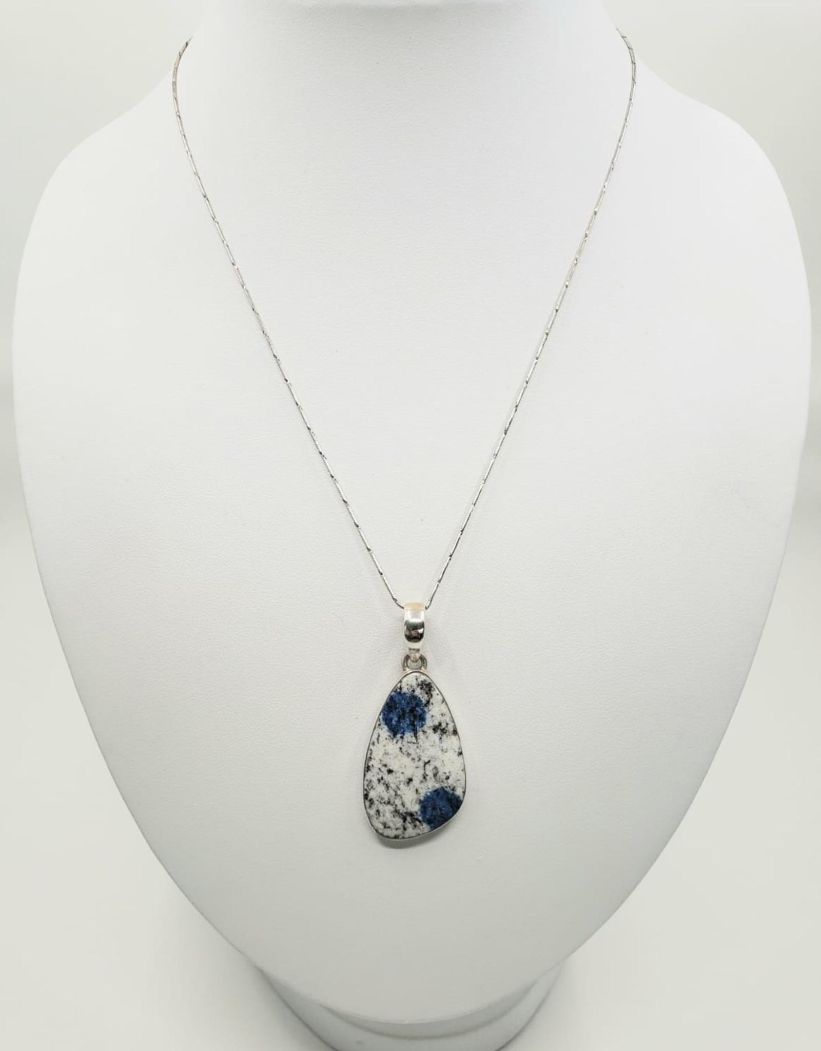 K2 granite pendant  abstract shape