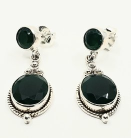 emerald earrings with stud backings