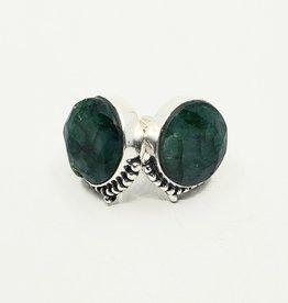 large stud emerald earrings