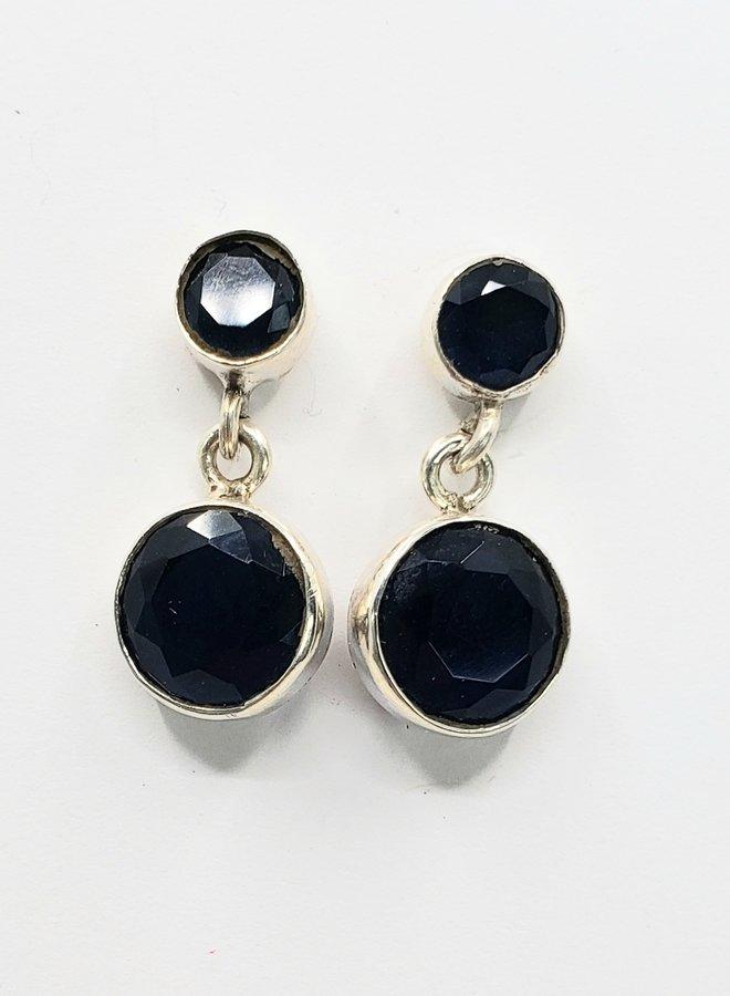 sapphire earrings in sterlng silver