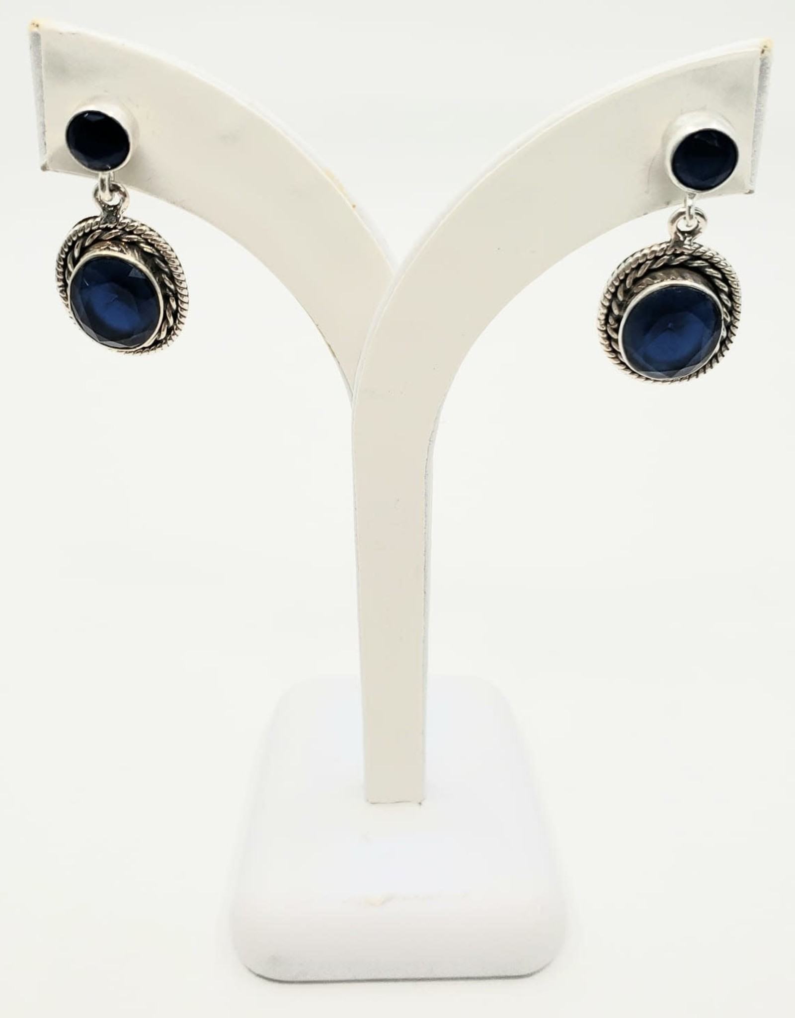 sapphire earrings with posts