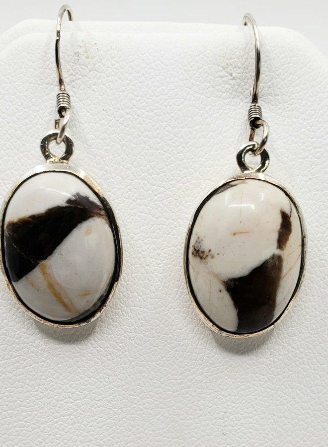 peanut wood earrings