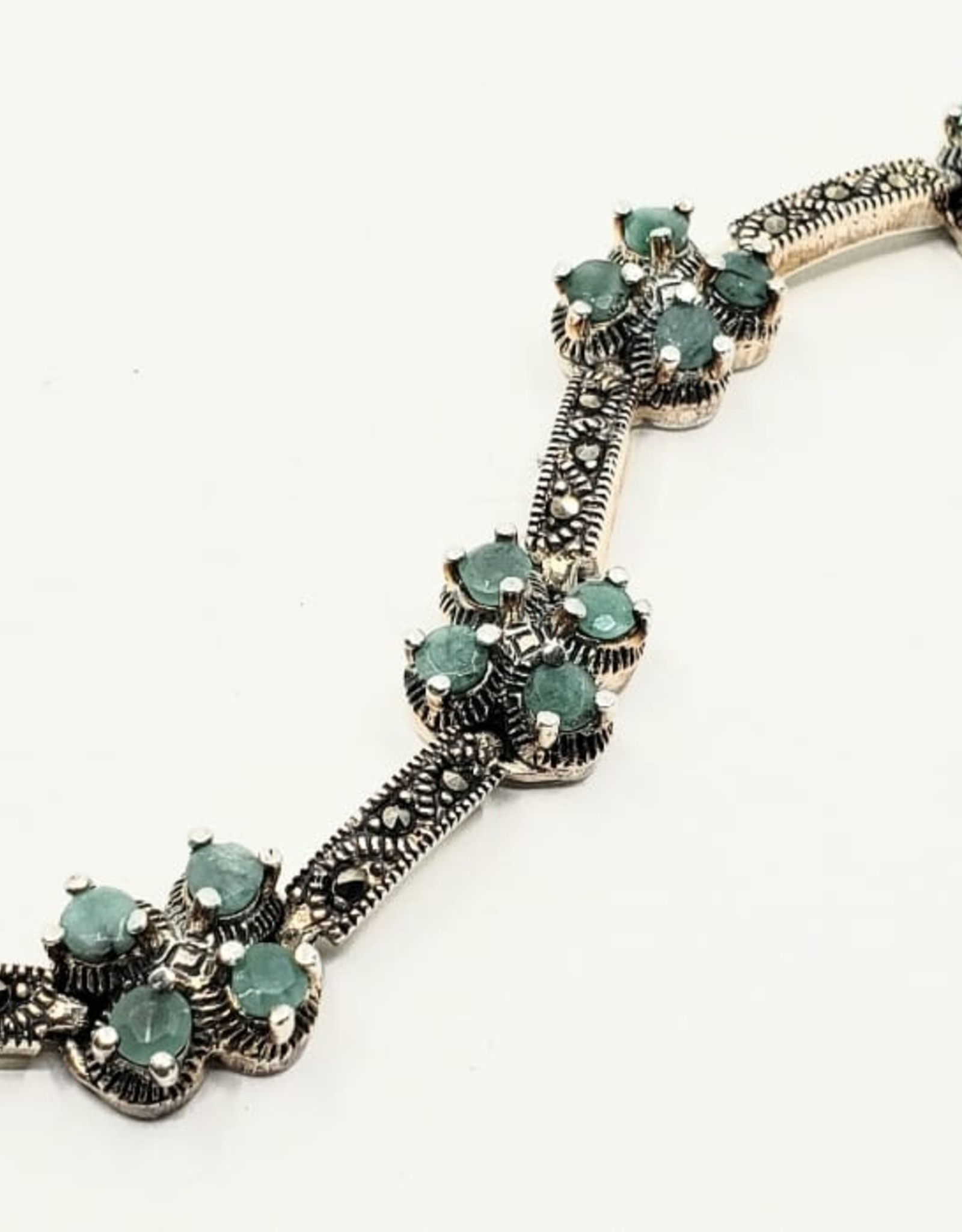 emerald bracelet with marcasite