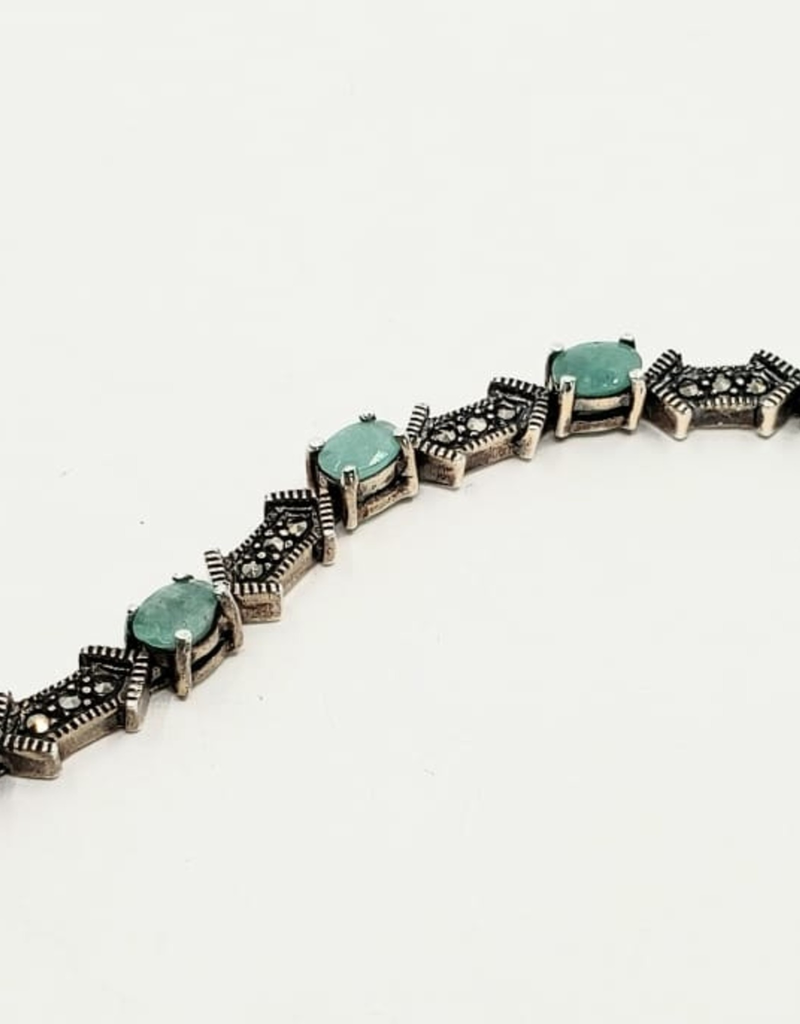 emerald and marcasite bracelet
