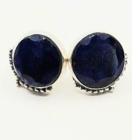 sapphire earrings large studs