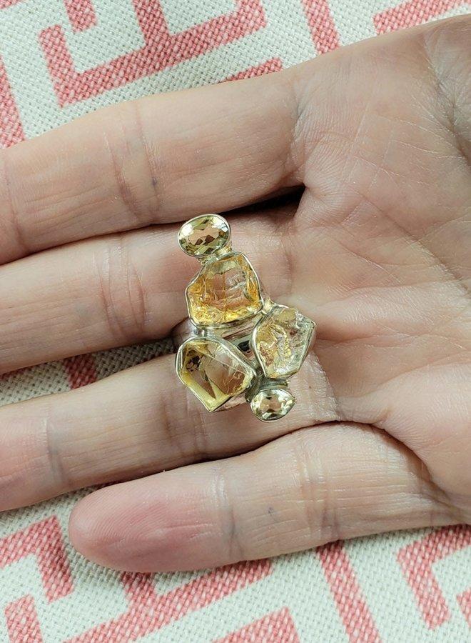 citrine ring adjustable