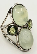 prehnite and peridot ring size 7