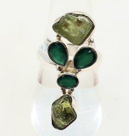 peridot and green onyx size 8