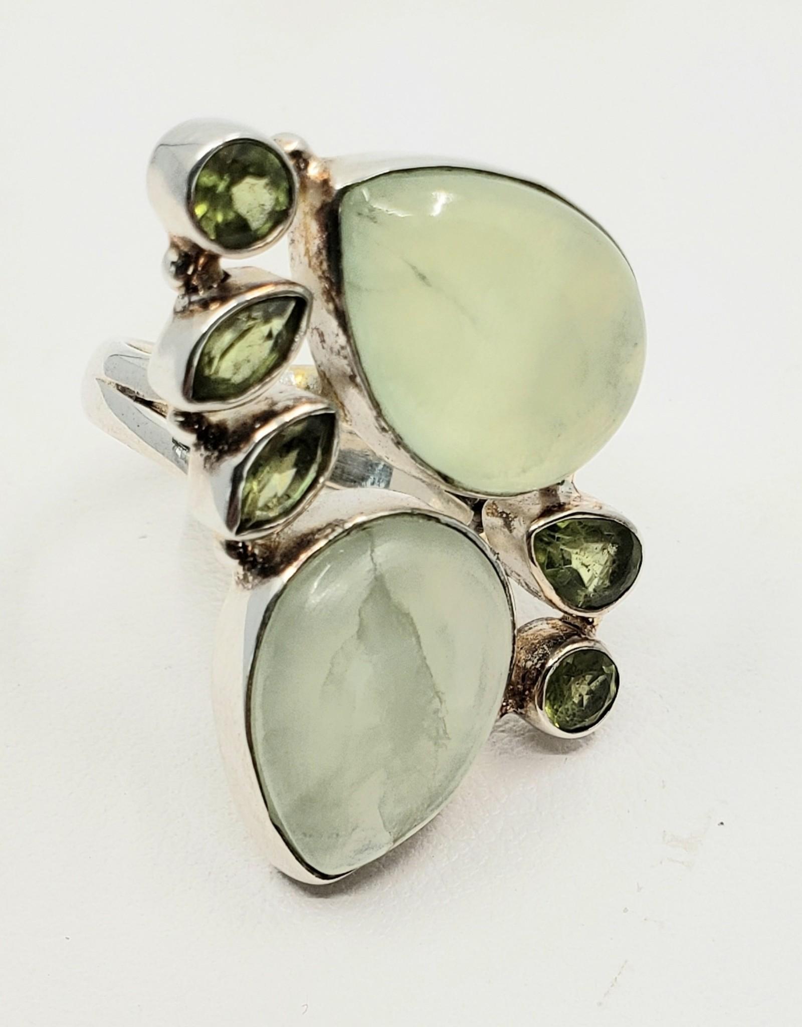 prehnite and peridot ring size 7